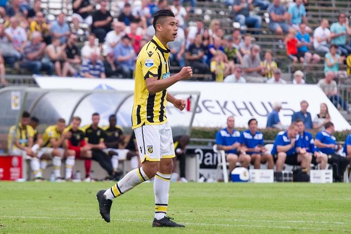 Yuning Zhang, de Chinese spits van Vitesse.
