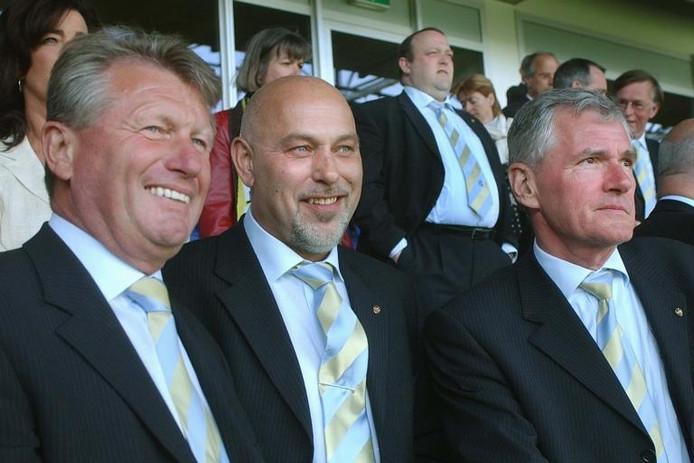 De Vrienden van Vitesse: Cor Guijt, Herman Veenendaal en Jan Snellenburg.