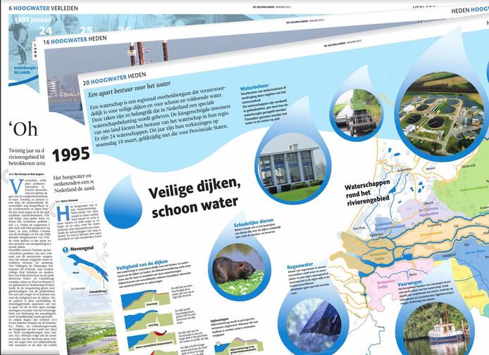 Enkele bladzijden uit de bijlage van De Gelderlander.