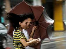 Tyfoon Megi legt openbare leven in Taiwan plat