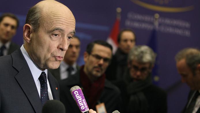 Alain Juppé, gisteren in Brussel.