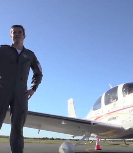 Record: jongen (18) vliegt in zijn eentje de wereld over