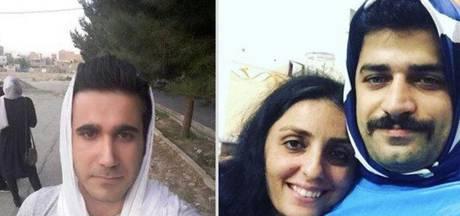 Iraanse mannen dragen hoofddoek uit solidariteit met vrouwen