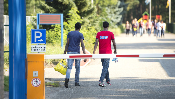 Het asielzoekerscentrum in het Brabantse Budel