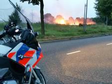 Vuurzee legt palletenstapel in as in Zoetermeer