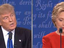 Confrontaties Clinton en Trump in beeld
