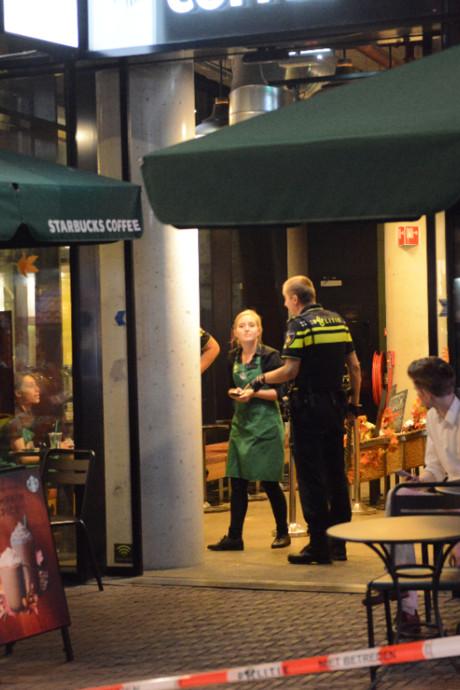 Starbucks Grote Marktstraat overvallen, verdachte aangehouden