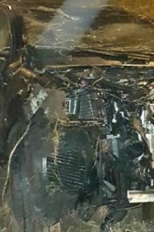 Automobilist heeft engeltje op schouder bij crash op A28