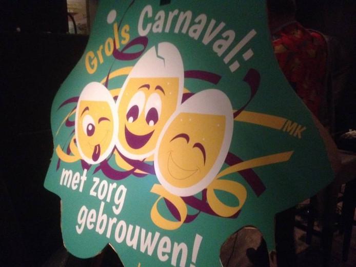 De nieuwe leus voor het carnavalsseizoen in Groenlo. Foto DG