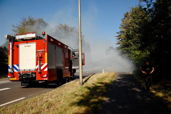 Flinke rookontwikkeling bij de Apeldoornseweg in Arnhem.