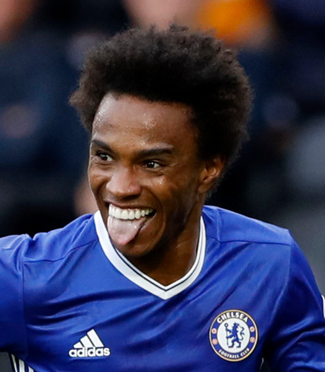 Willian en Costa schieten Chelsea langs Hull