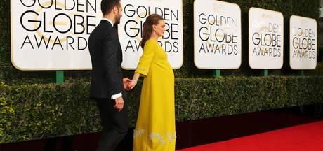 Natalie Portman schittert zwanger op rode loper Golden Globes