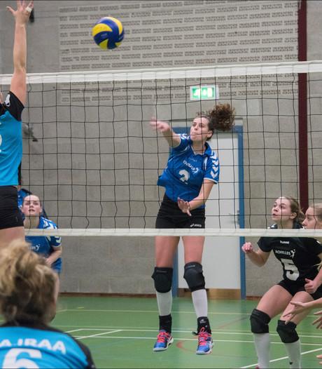 Volleybalsters Achilles trekken aan kortste eind