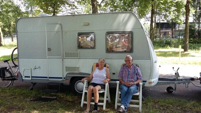 Anneke en Anne Molenaar arriveerden vrijdagochtend al in Nijmegen