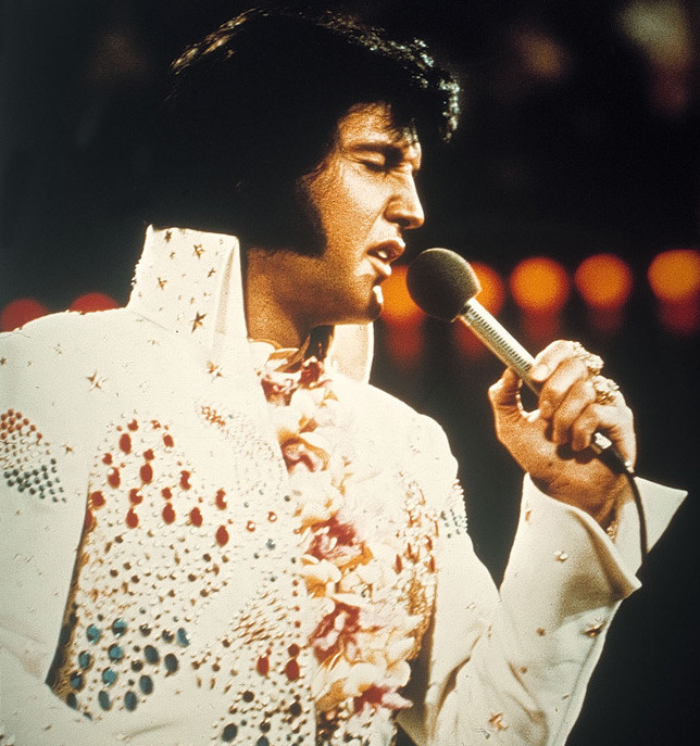Elvis Presley in 1976. © ANP