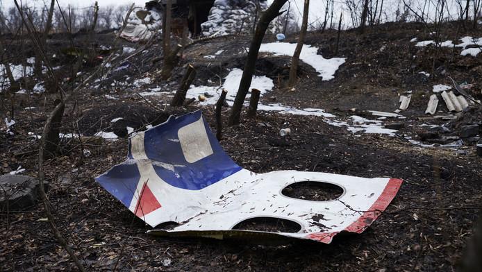 Resten van de MH17 liggen bij een verlaten wegblokkade vlakbij Nikishyne, ter noordwesten van Grabovo. Het gebied is hand van pro-Russische rebellen,