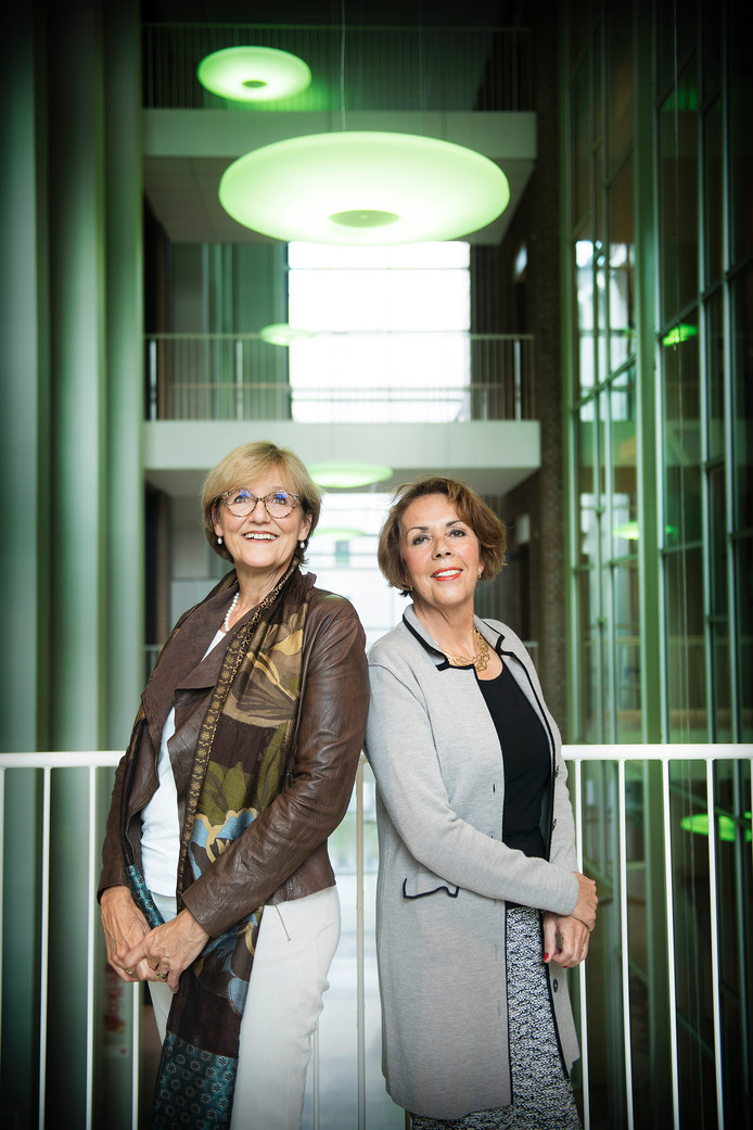 Cathy van Beek (links) en Angela Maas, twee Nijmeegse Machtige Vrouwen.