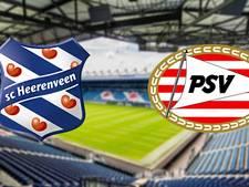 sc Heerenveen tegen PSV