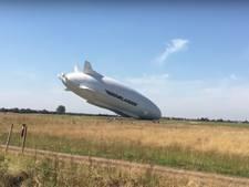 's Werelds grootste luchtschip gecrasht tijdens testvlucht
