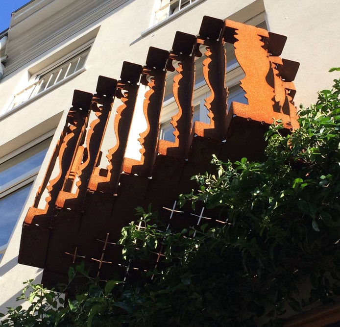 Het stalen balkon waarmee Nexit Architecten de Staalprijs 2016 heeft gewonnen.