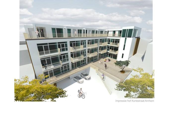 Een impressie van de omgebouwde school aan de Kortestraat in Arnhem.