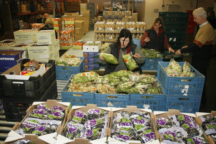 De voedselbank wordt steeds drukker bezocht. foto Irene Wouters