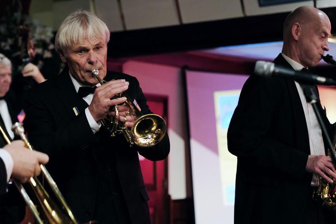 Jan Dokter op de trompet.