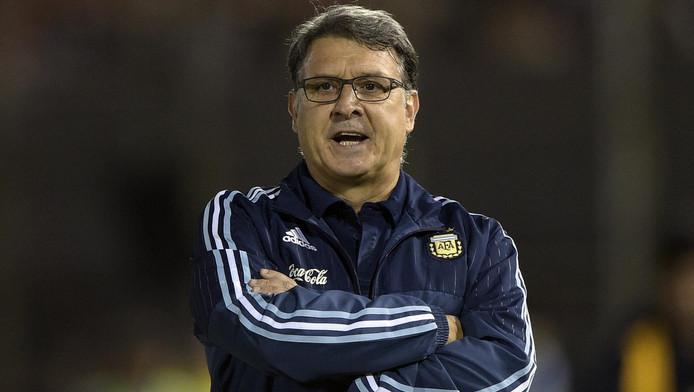 Gerardo Martino als bondscoach van Argentinië.