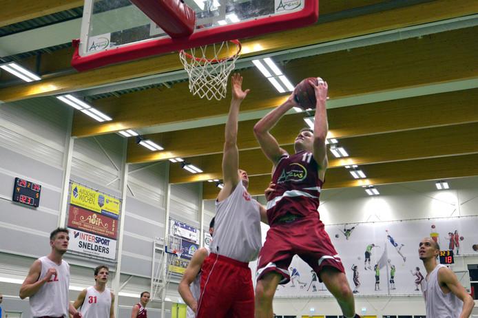 De basketballers van Wyba wonnen voor de derde keer op rij. Archieffoto Flip Franssen