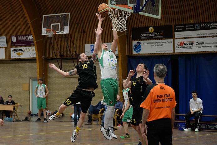 Archieffoto van de basketballers van Akros (groen)