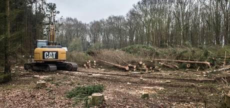 Bewoners protesteren tegen bomenkap voor villa Van der Valk