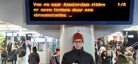 Nog steeds hinder op spoor na stroomstoring Amsterdam