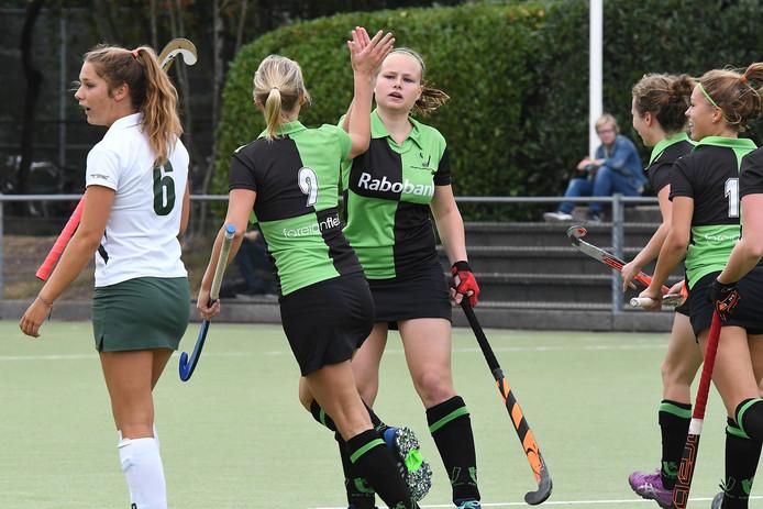 De hockeysters van Boxmeer winnen voor de zevende keer. Archieffoto