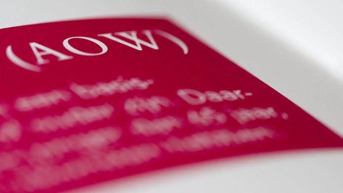 Folder over AOW. © ANP