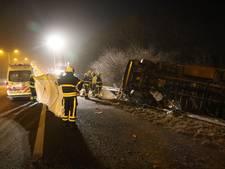 Vrachtwagenchauffeur komt om bij ongeval op A13