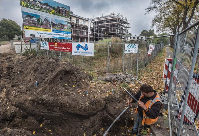 De appartementen van de nieuwbouwwijk in Molenhoek zijn al bijna af.