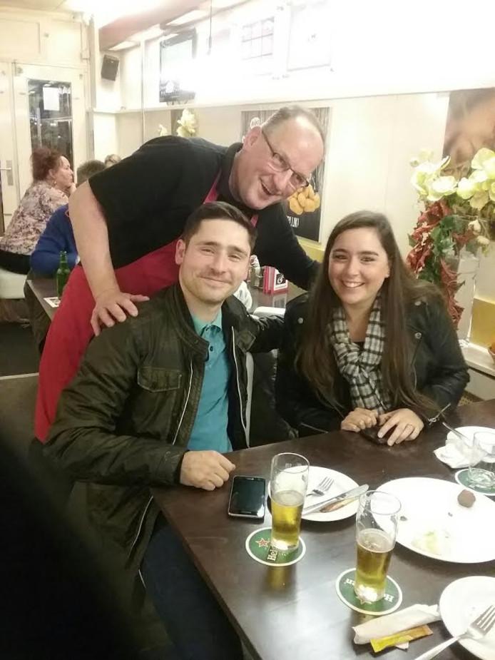 Vincent Gasseling met Scott en diens vriendin.