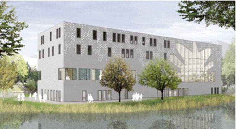 Afbeelding van de nieuwe synagoge van de Liberale Joodse Gemeente. Foto Ljgamsterdam.nl Beeld