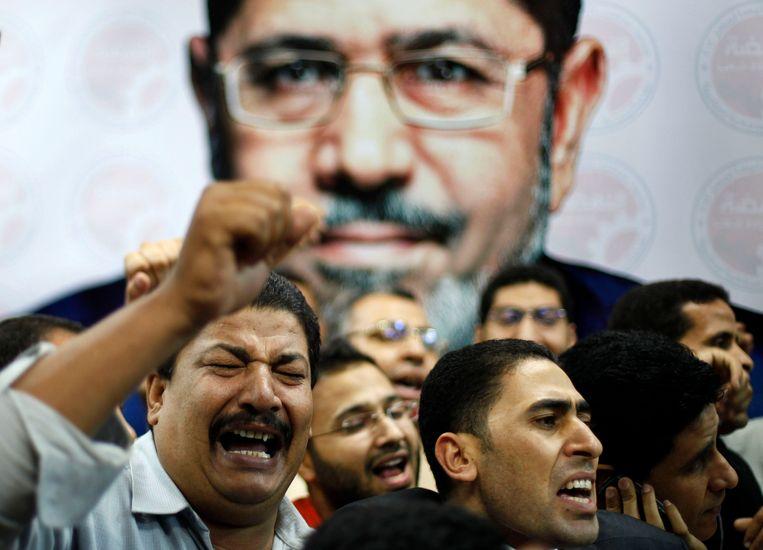 Aanhangers van de Moslimbroederschap. Beeld REUTERS