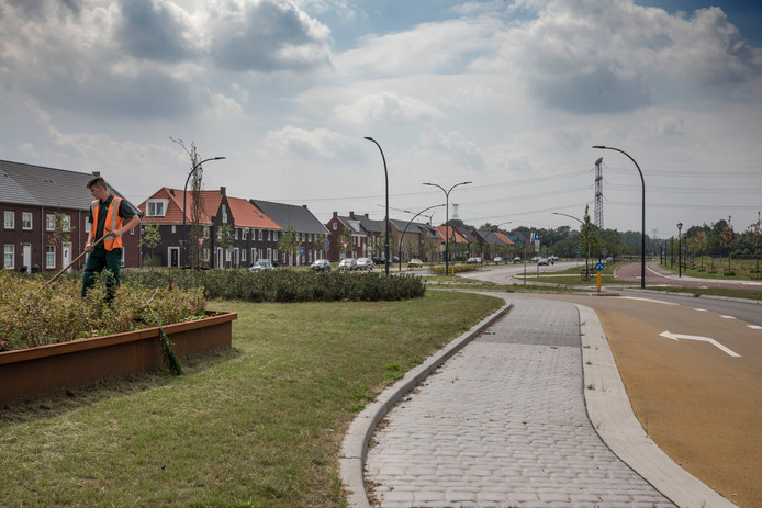 De eerste nieuwbouwwoningen van Nuenen-West aan de Europalaan