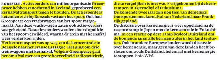 null Beeld NRC Handelsblad 7 juni 2011