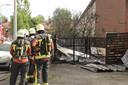 brand in een schuur aan de Reinier de Graafstraat in Schoonhoven.  .