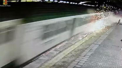 Spectaculaire beelden van trein vlak voordat die crasht nabij Milaan