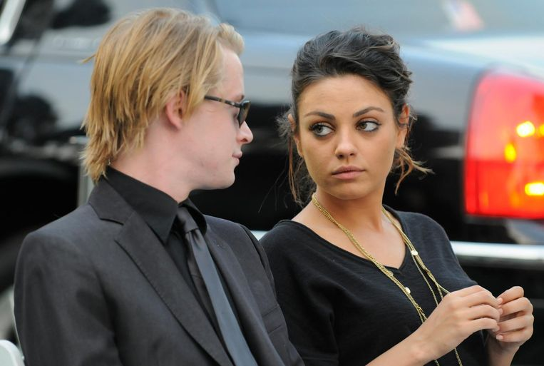 Macaulay Culkin en Mila Kunis.