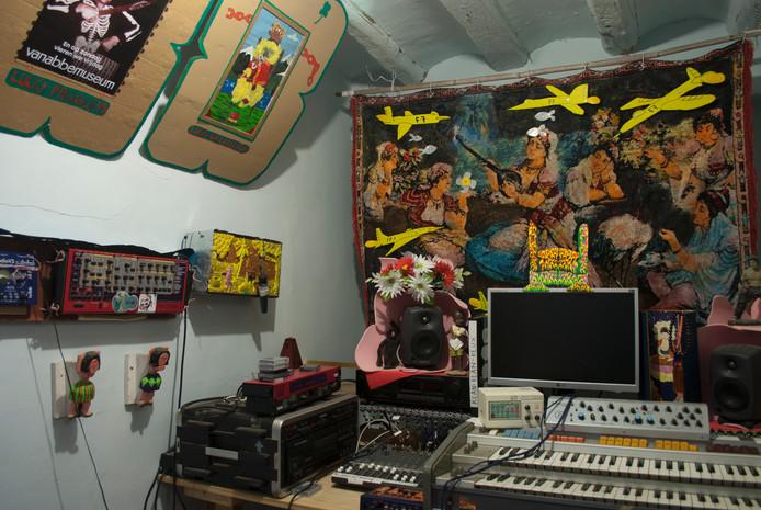Muziekstudio van Dick Verdult in spanje
