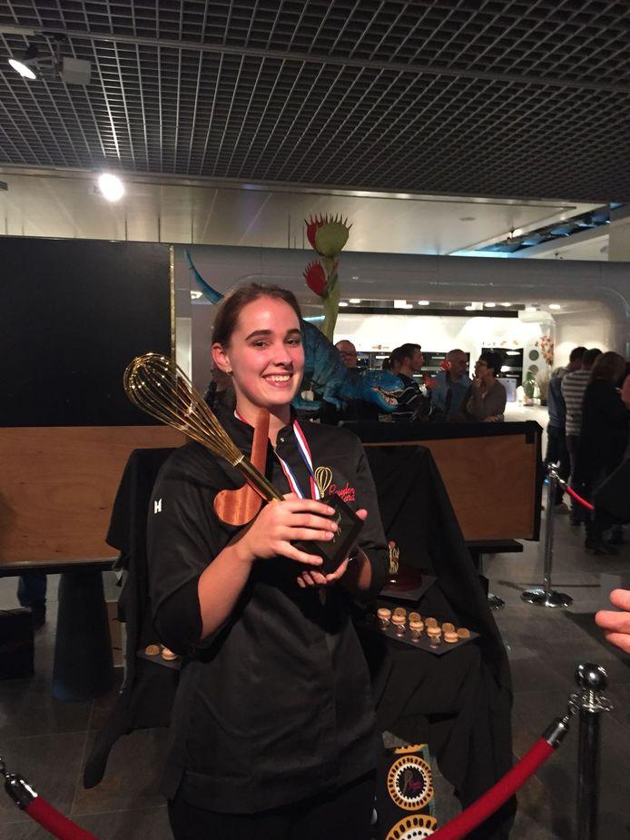 Lisa Matthijssen met haar gouden gard.