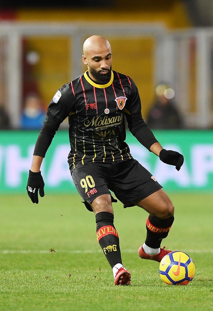 Samuel Armenteros in actie voor Benevento.