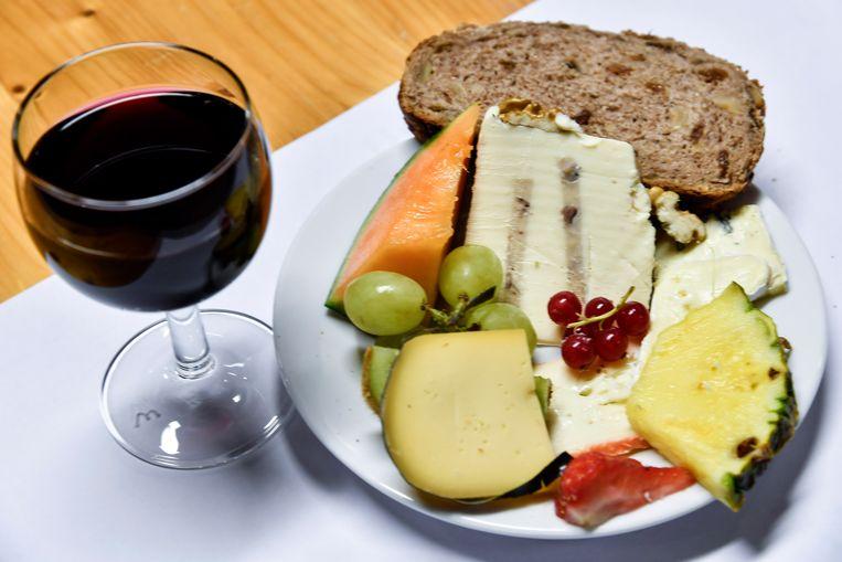 Kaas- en wijnavond in het Sint-Catherinacollege.