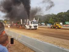 Brullende trucks en ronkende tractoren strijden om de (centi)meters in Cromvoirt