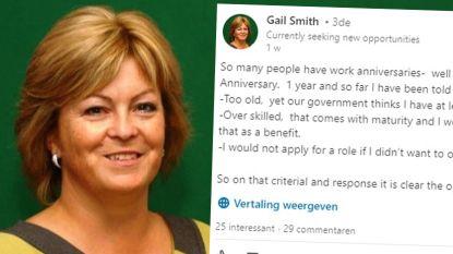 """Vrouw (52) zoekt al jaar nieuwe job maar krijgt overal te horen dat ze """"te oud"""" is of """"te veel ervaring"""" heeft. Ze heeft er genoeg van"""